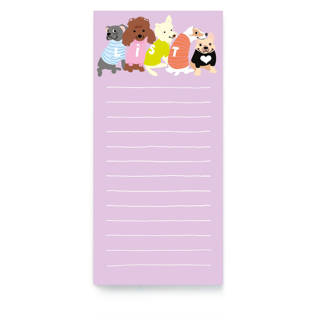 Dogs In Jumpers Magnetic List Pad