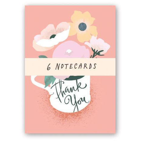 Floral Thank You Note Cards