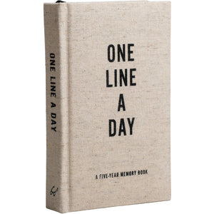 One Line A Day Canvas Book