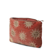 Load image into Gallery viewer, Rust Velvet Sun Travel Pouch