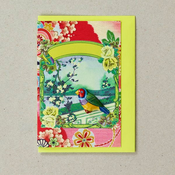 Japanese Bird Badge Card