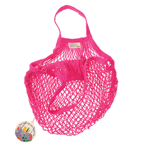 Organic Cotton String Bag Pink