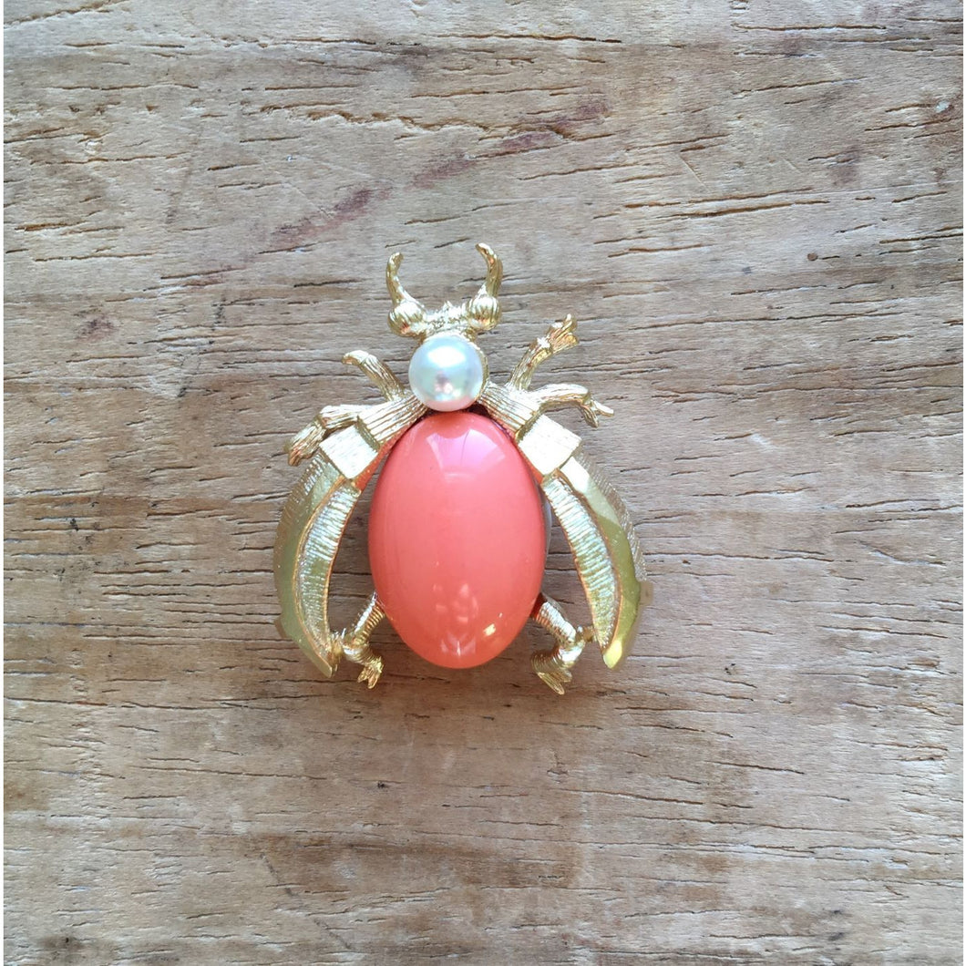 Coral Insect Pin