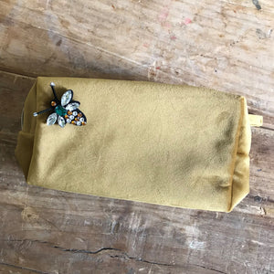 Soft Gold Velvet Make Up Bag