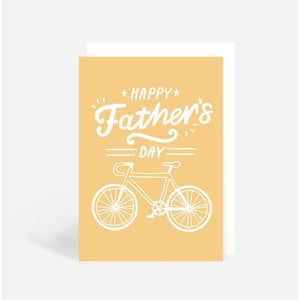 Happy Father's Day Card Bicycle
