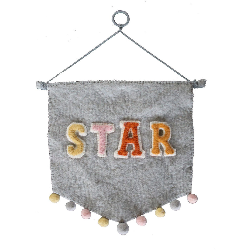 Star Felt Wall Hanging