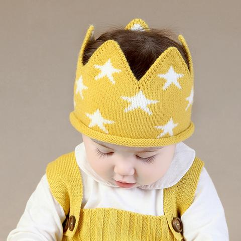 Knitted Crown Yellow
