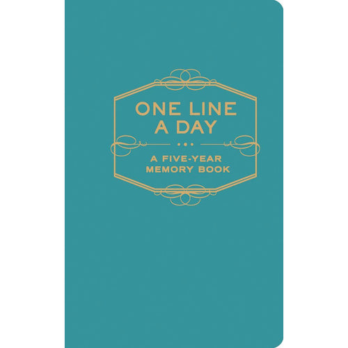 One Line a Day Book Teal