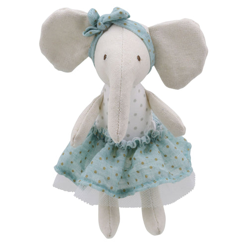 Linen Mini Girl Elephant Soft Toy