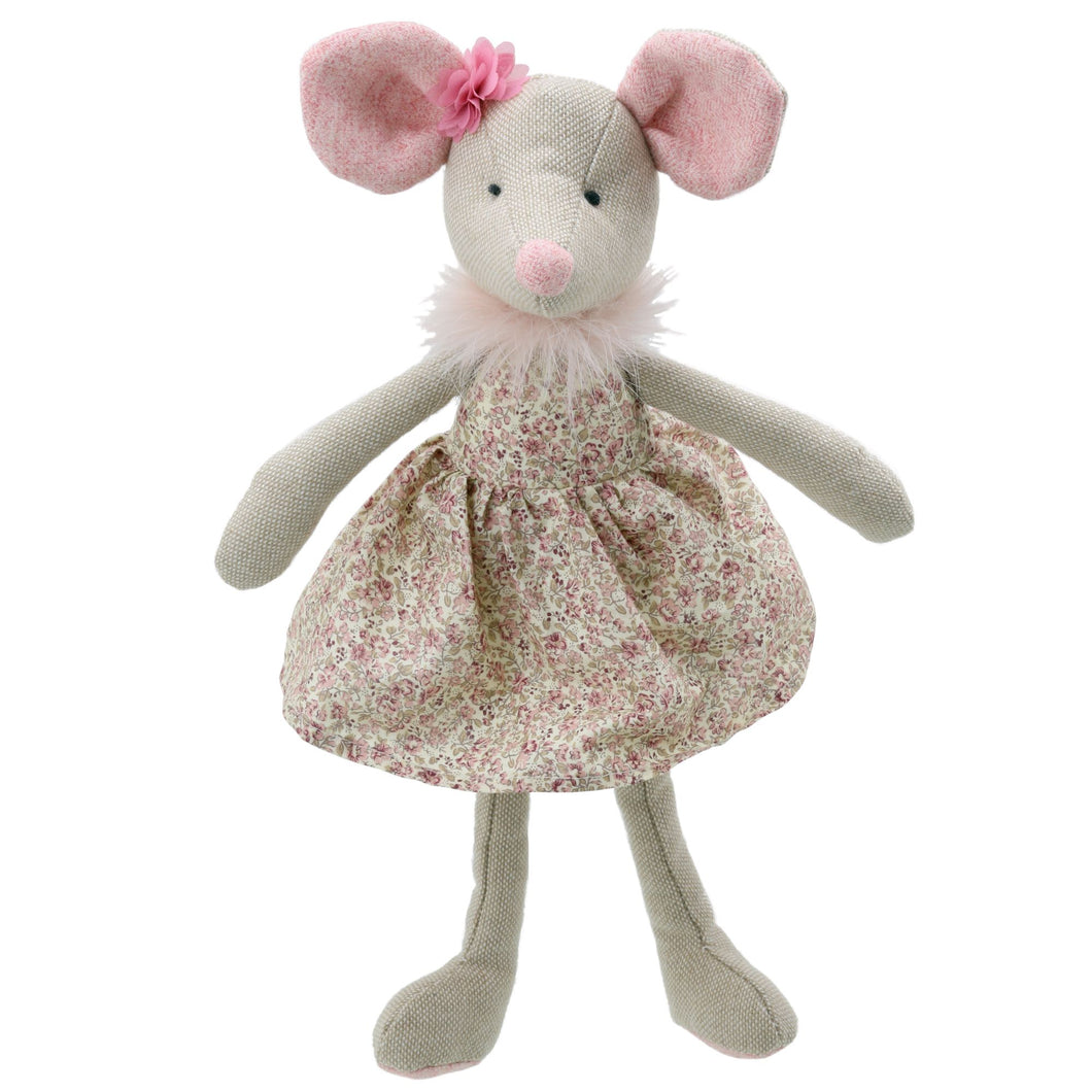 Linen Girl Mouse Soft Toy
