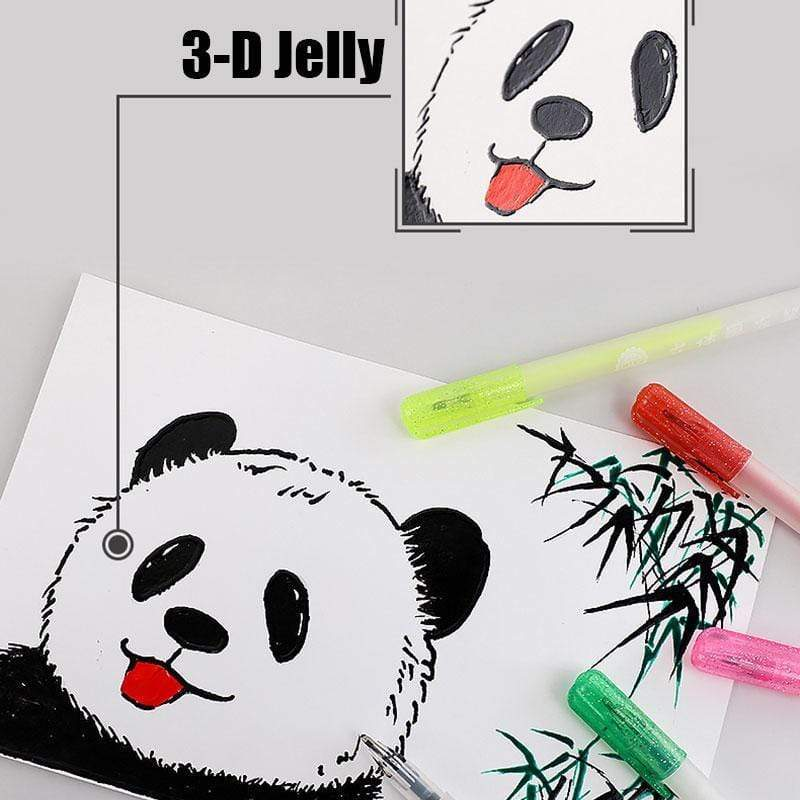 3D Glossy Jelly Ink Pen Set