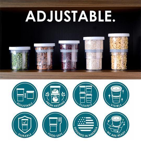 Adjustable Food Storage Container(2 Pcs)