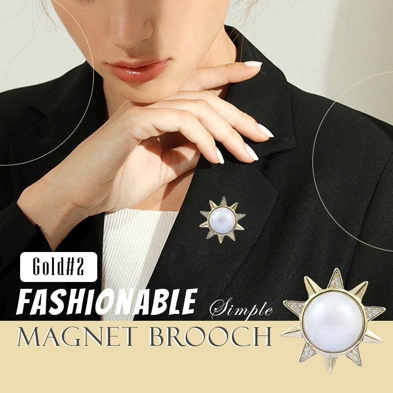 Fashionable Simple Magnet Brooch