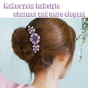 Crystal Decor Hair Side Comb