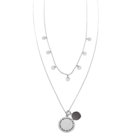 Foxy Originals Good Karma Believe Necklace Silver