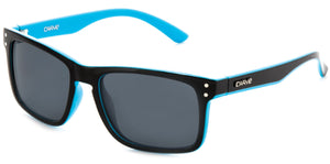 GOBLIN Gloss Black/Blue | Grey Polarized Sunglasses - Carve Eyewear
