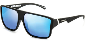 Matt black frame | Blue iridium lens