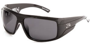 KNOXVILLE Gloss Black | Grey Polarized Sunglasses - Carve Eyewear