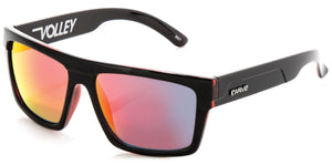VOLLEY Gloss Black/Red | Red iridium Non-Polarized - Carve Eyewear