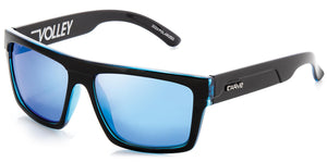 Gloss black frame | blue iridium lens