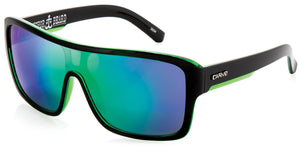 Gloss black frame | Green iridium lens