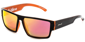 SUBLIME Gloss Black/Orange | Red Iridium Polarized Sunglasses - Carve Eyewear
