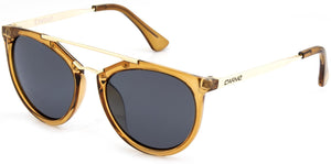 Crystal gold frame | Grey lens