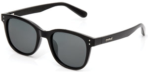 HOMELAND Gloss Black | Grey Polarized Sunglasses - Carve Eyewear