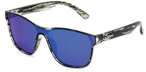 GATTACA Gloss Black Streak | Blue Iridium Polarized Sunglasses - Carve Eyewear