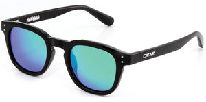 HAVANA Gloss Black | Green Iridium Polarized Sunglasses - Carve Eyewear