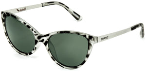 Matt clear tort frame | Green lens