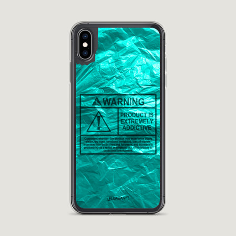 WARNING Product Is Extremely Addictive iPhone Case - Blue - Pleasant Cases