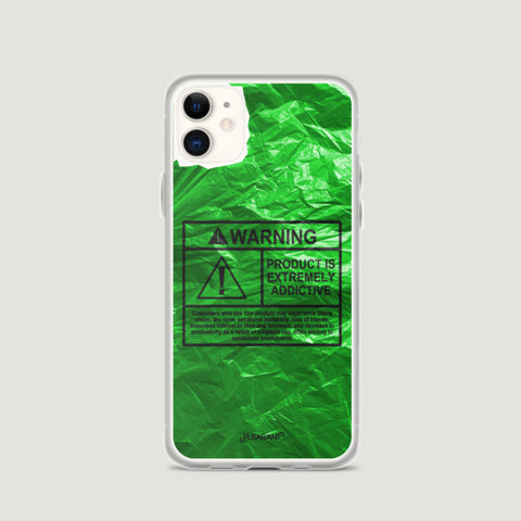 WARNING Product Is Extremely Addictive iPhone Case - Green - Pleasant Cases