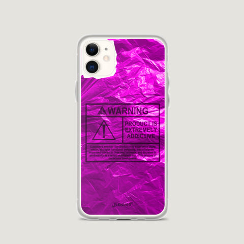 WARNING Product Is Extremely Addictive iPhone Case - Pink - Pleasant Cases