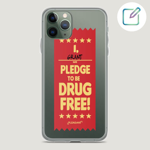 Customized Drug Free iPhone Case - Pleasant Cases