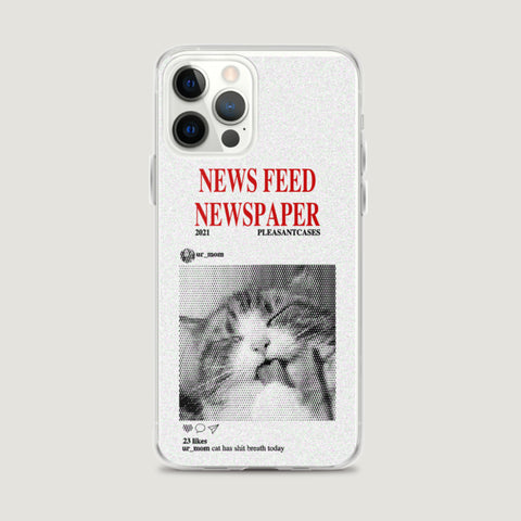 NewsFeed Newspaper iPhone Case - Pleasant Cases
