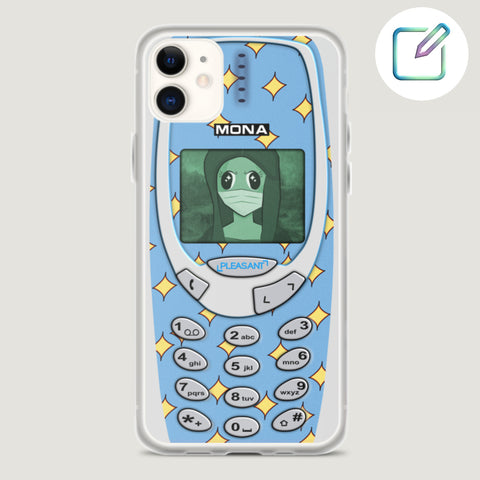 [Customized] Baby Blue Cartoon Old School iPhone Case