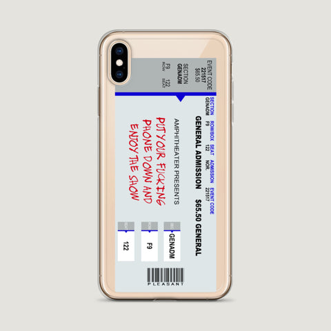 Enjoy The Show iPhone Case - Pleasant Cases