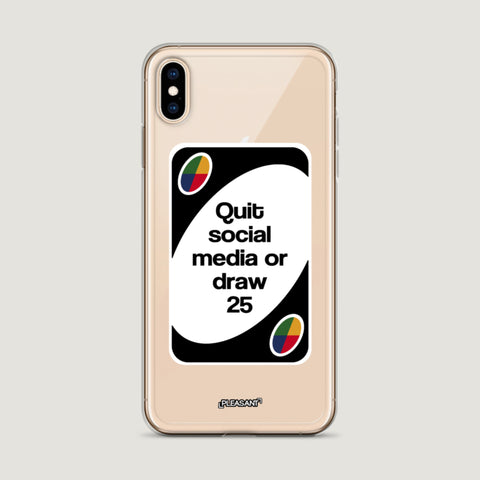 Quit Social Media Or Draw 25 iPhone Case - Pleasant Cases