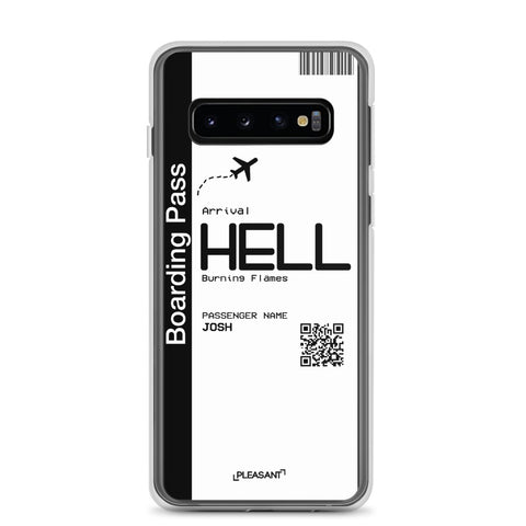 Personalized Hell Plane Ticket Samsung Case - Pleasant Cases
