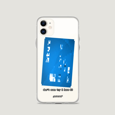 Blue Blurred Debit Card iPhone Case - Pleasant Cases