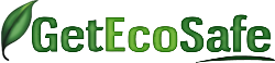 Get Eco Safe Logo with Green Leaf