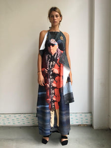 Long printed towel dress