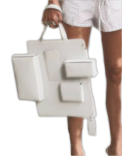Load image into Gallery viewer, White leather caba bag