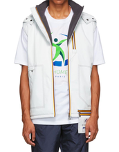 Load image into Gallery viewer, White Sleeveless jacket with K-way