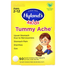 Load image into Gallery viewer, Tummy Ache - 50 Tabs - Ages 2-12 - Hyland's