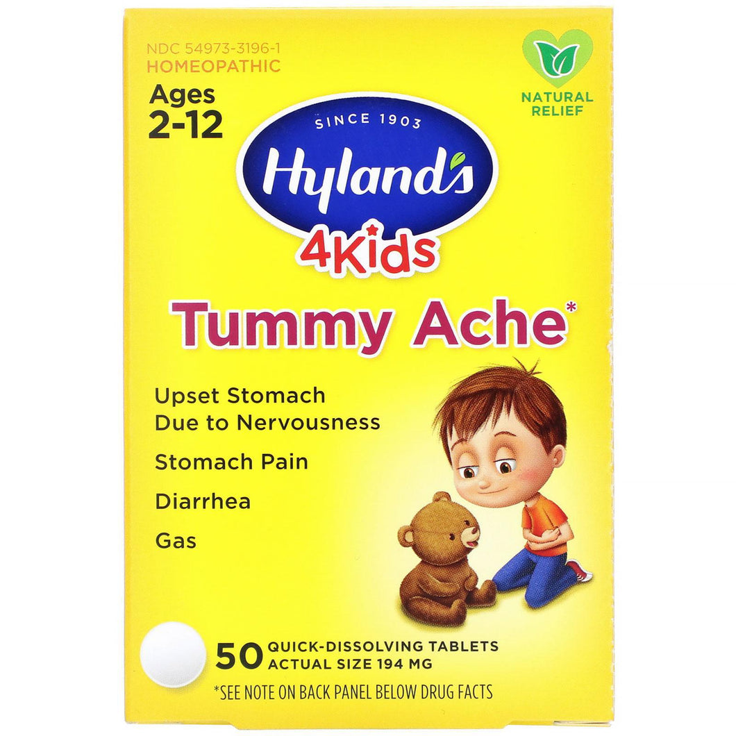 Tummy Ache - 50 Tabs - Ages 2-12 - Hyland's