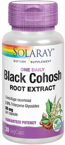 Black Cohosh Root Extract - 80 mg - 30 Caps - Solaray