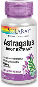 Astragalus Root Extract - 200 mg - 30 Caps - Solaray