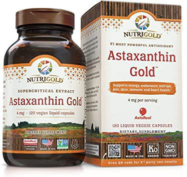 Astaxanthin Gold - 4mg - 60 Softgels - NutriGold